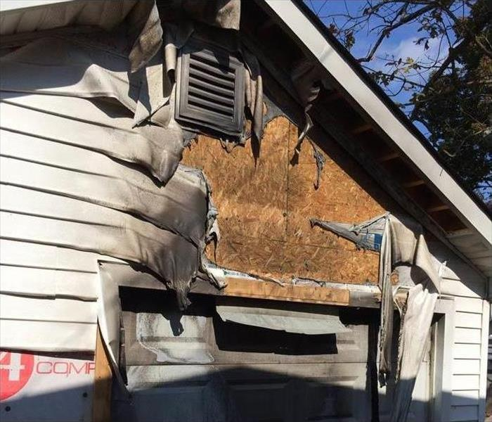 Fire Damage – Laconia Garage Before