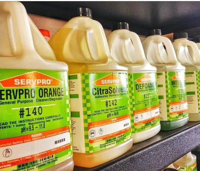 bottles of SERVPRO cleaning products