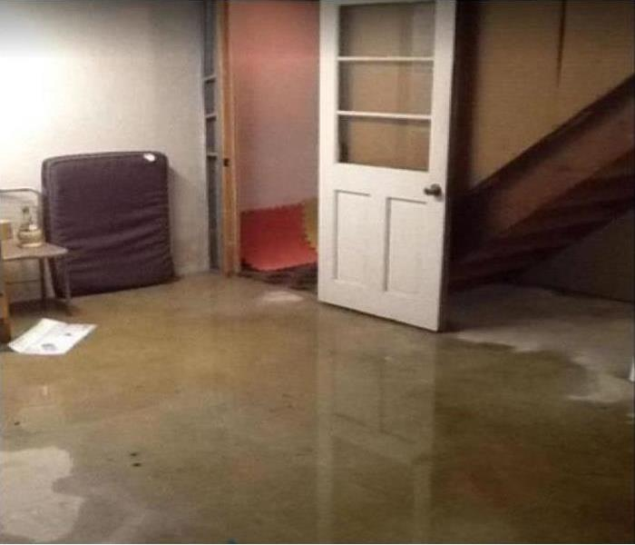 standing water on floor of home